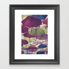 Why does it always rain on me? Framed Art Print