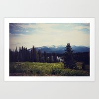 ashton irwin Art Prints featuring Lake Irwin by Teal Thomsen Photography