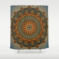 islam Shower Curtains featuring Moroccan sun by Awispa