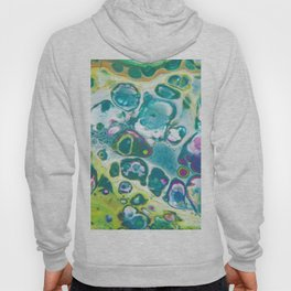 Fluid Nature - Living Cells - Abstract Acrylic Pour Art Hoody