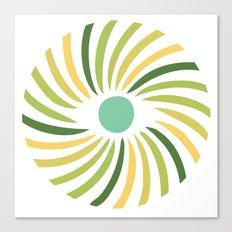 Retro radial eye design Canvas Print