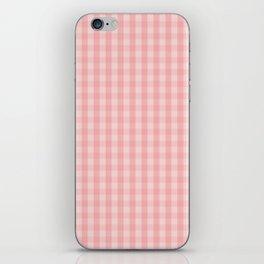 Large Lush Blush Pink Gingham Check Plaid iPhone Skin