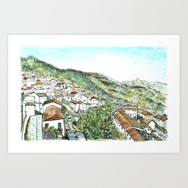 Zahara de la Sierra, Spain Art Print