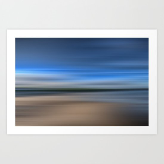 Beach Blur Art Print