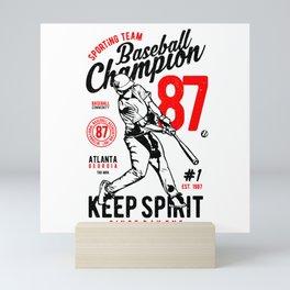 Baseball Champion Mini Art Print
