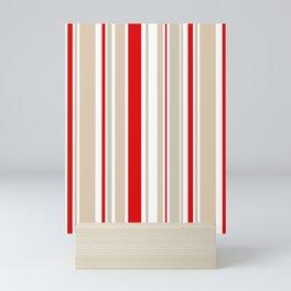 Nautical Red and White Stripe Mini Art Print