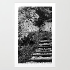 The middle path Art Print