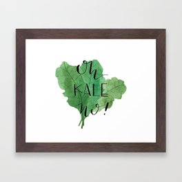 Kale with Attitude Framed Art Print