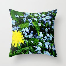 Yellow Rules Throw Pillow