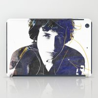 dylan iPad Cases featuring bob dylan by manish mansinh