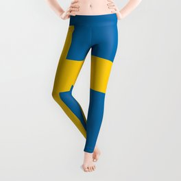 Flag of Sweden - Authentic (High Quality Image) Leggings
