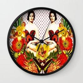 Sofia E Le Farfalle Wall Clock