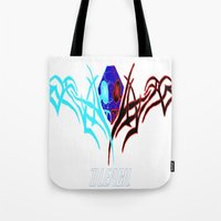 bleach Tote Bags featuring Bleach Logo by winterknight