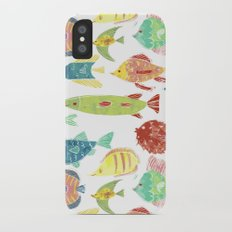 Little flowers and friends iPhone X Slim Case