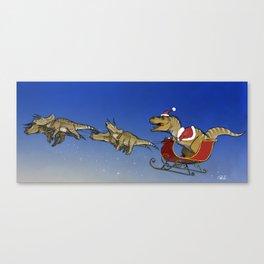 Santasaurus Rex Canvas Print