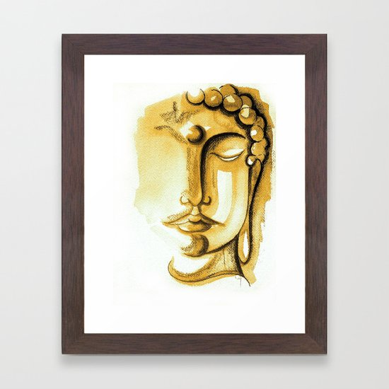 SHADES OF GOLD BUDDHA #2 Framed Art Print