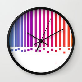 notas de color Wall Clock