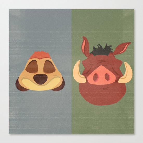 Timon and Pumbaa Canvas Print