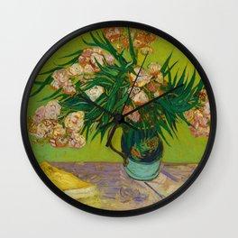 Copy of Vincent van Gogh Roses Floral Green Pink Wall Clock