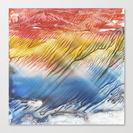 The Wind - abstract landscape watercolor monotype Canvas Print