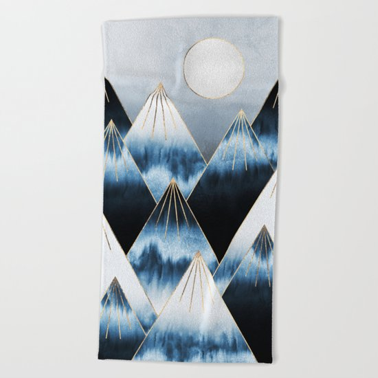 Frost Mountains Beach Towel