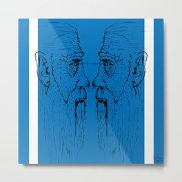 Look at me (blue) Metal Print