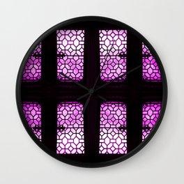 VioletGlaze Wall Clock