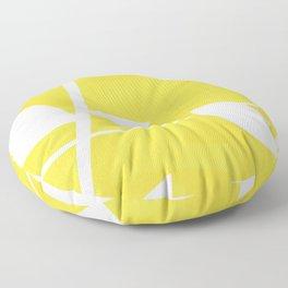 Vine in Yellow by Friztin Floor Pillow