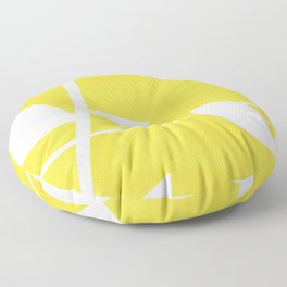 Vine in Yellow by Friztin Floor Pillow