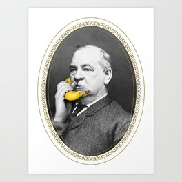 Grover Cleveland & Bananaphone Art Print