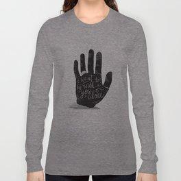 Hand-Etch-Type Long Sleeve T-shirt