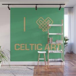 I heart Celtic Art Wall Mural