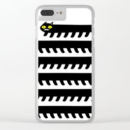 Cryptid Long Cat Clear iPhone Case