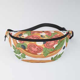 I Love Pizza Pattern For Pizza Lovers Fanny Pack