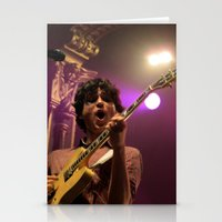 vampire weekend Stationery Cards featuring ezra koenig // vampire weekend by Hattie Trott