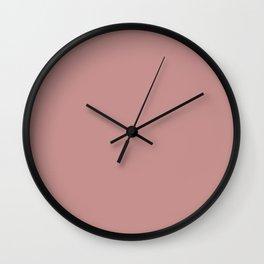 Solid Khaki Rose Color Wall Clock