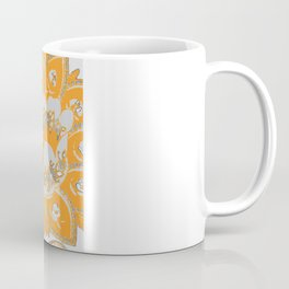 vintage paisley orange/grey Coffee Mug