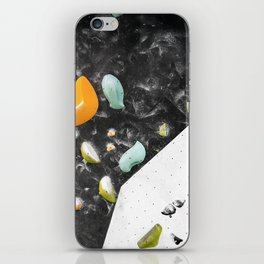Colorful summer bouldering gym wall climbing holds girls iPhone Skin