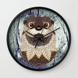 Ornate Otter Wall Clock