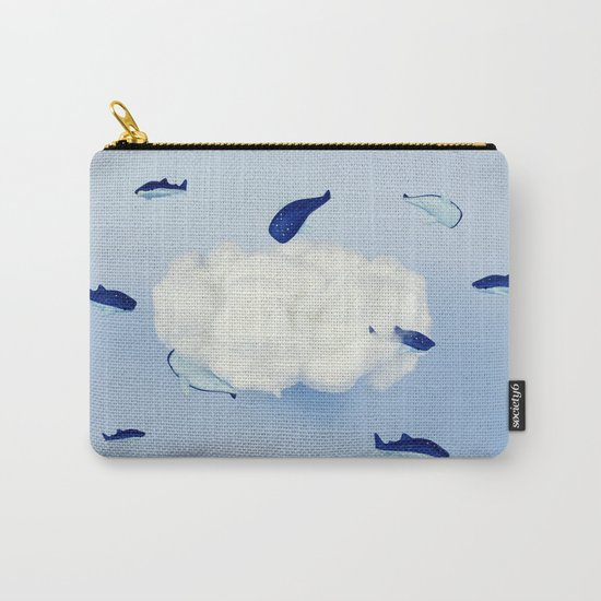 Whales around the cloud Carry-All Pouch