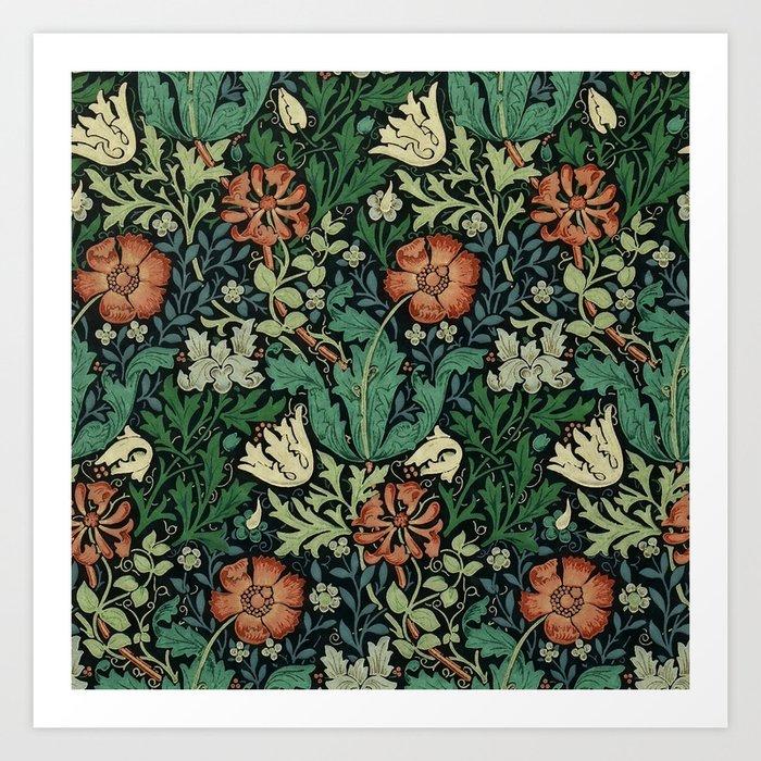 William Morris Compton Floral Art Nouveau Pattern Kunstdrucke