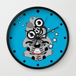 Hei Tiki New Zealand Drum Wall Clock