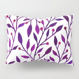 Leafs and iny fruit - purple and pink pallete Pillow Sham