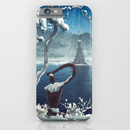 Castle in the Sky japanese vintage mashup iPhone Case