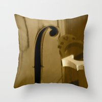 cello Throw Pillows featuring Cello by CC McAlister