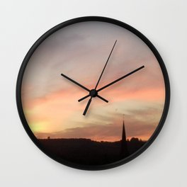 Sunset 503 on Ranmore near Dorking (North Downs) Wall Clock