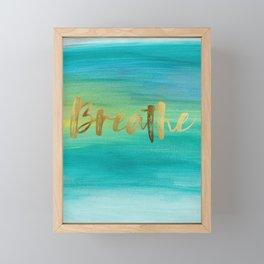 Breathe, Ocean Series 4 Framed Mini Art Print