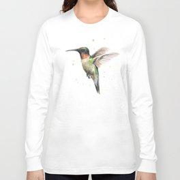 Hummingbird Watercolor Long Sleeve T-shirt