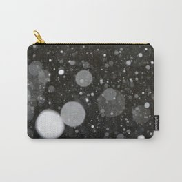 Light in the Dark-Photo of light colored circles on a dark surface Carry-All Pouch