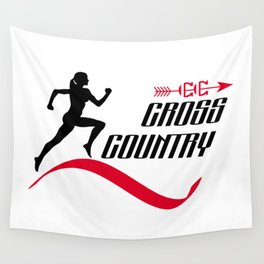 Cross country Wall Tapestry